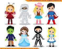 halloween costumes clip art | Halloween Costume Kids Clip Art Costume kids clip art /