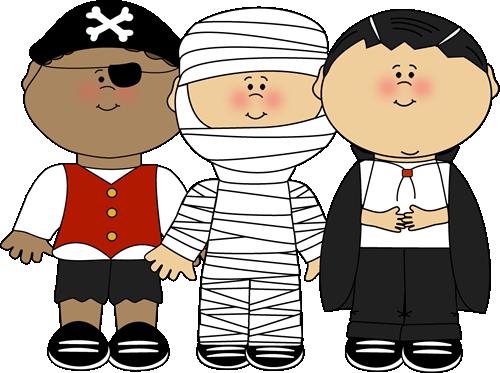 Halloween Costumes Clipart. Boy Halloween Trick Or ..