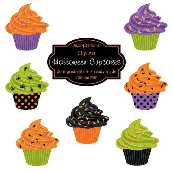 Halloween Cupcakes Clip Art-Halloween Cupcakes Clip Art-16
