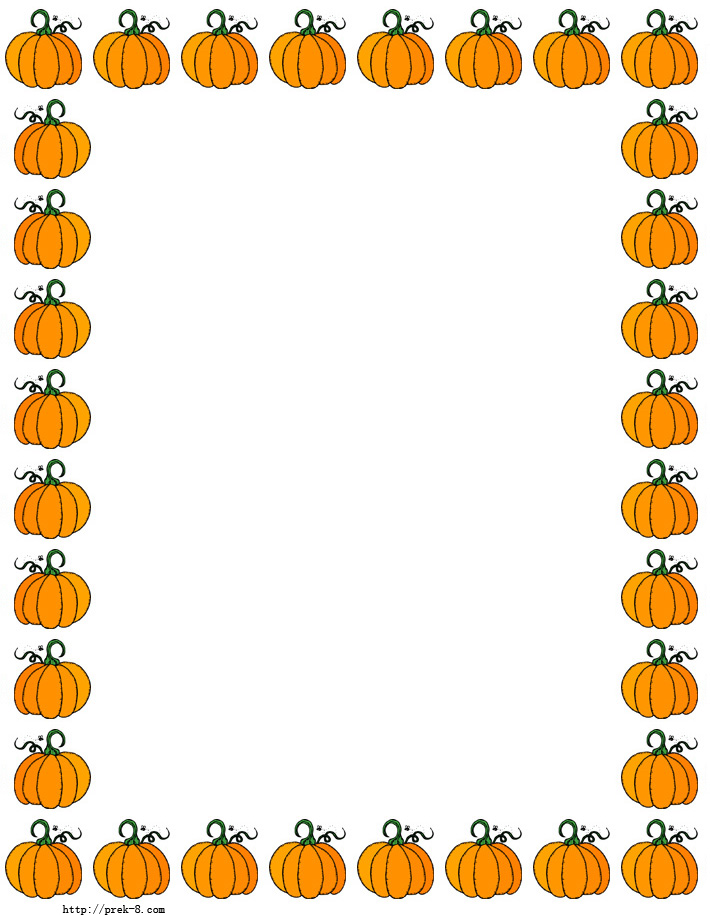 Halloween Cute Pumpkins Border Paper Free Printable Halloween Paper