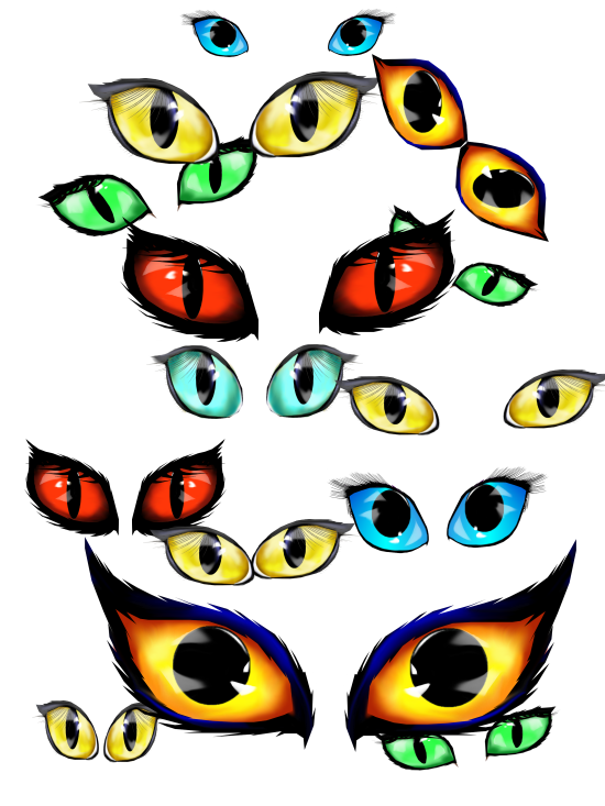 Halloween Eyes Clip Art Lotacats Paint Shop Pro 7