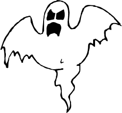 Halloween ghost clip art .