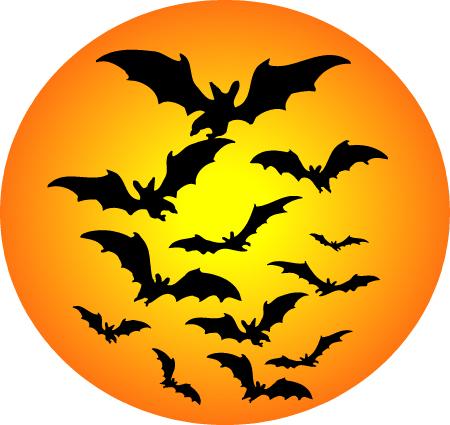 Halloween Halloween Bat Moon Clipart Carpe Durham
