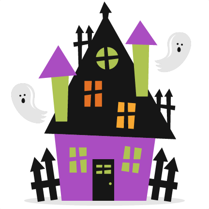 Halloween Haunted House SVG .