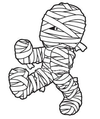 Halloween mummy clipart 3