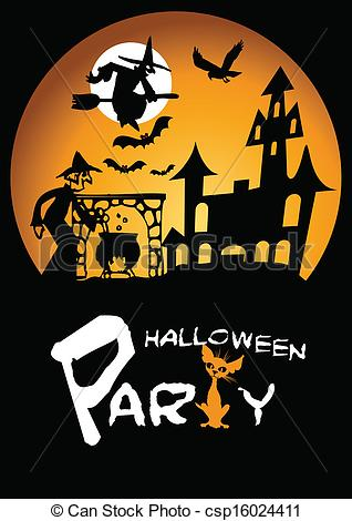 Halloween Party Graphic with .