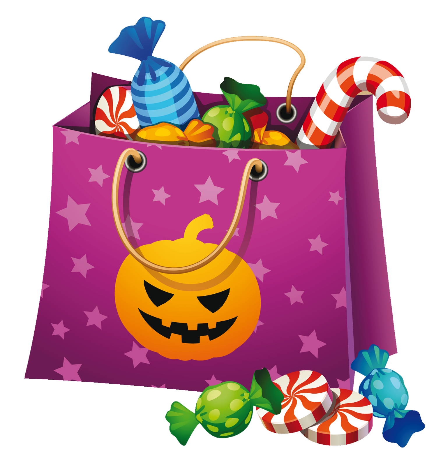 Halloween Png Candy Bag Clipart