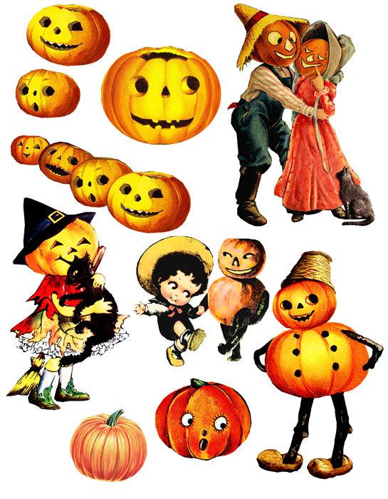 Retro Vintage Halloween Clip Art.61 Vintage Halloween Clip Art Clipartlook