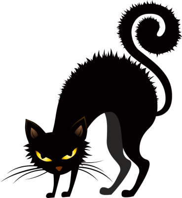 Halloween Scary Cat Cliparts .