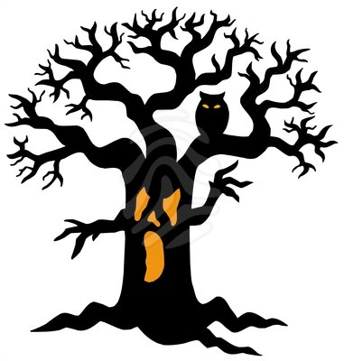 Halloween Tree Clipart Spooky Tree Silhouette Halloween Clipart