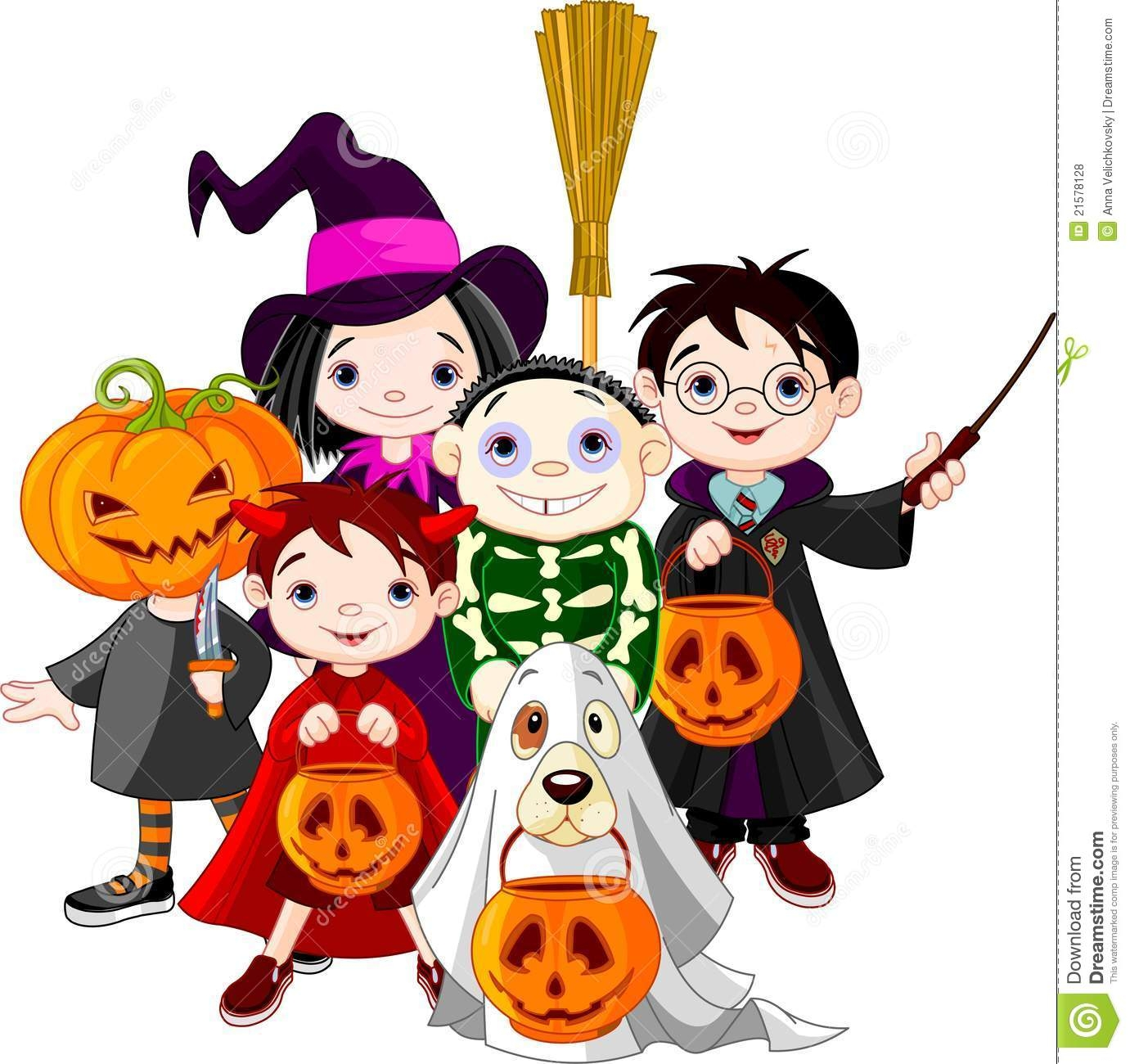 Halloween trick or treating .-Halloween trick or treating .-10