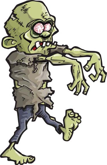 Halloween zombie clip art