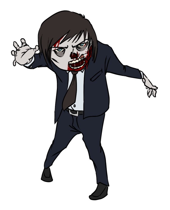 Halloween zombie clipart kid 2