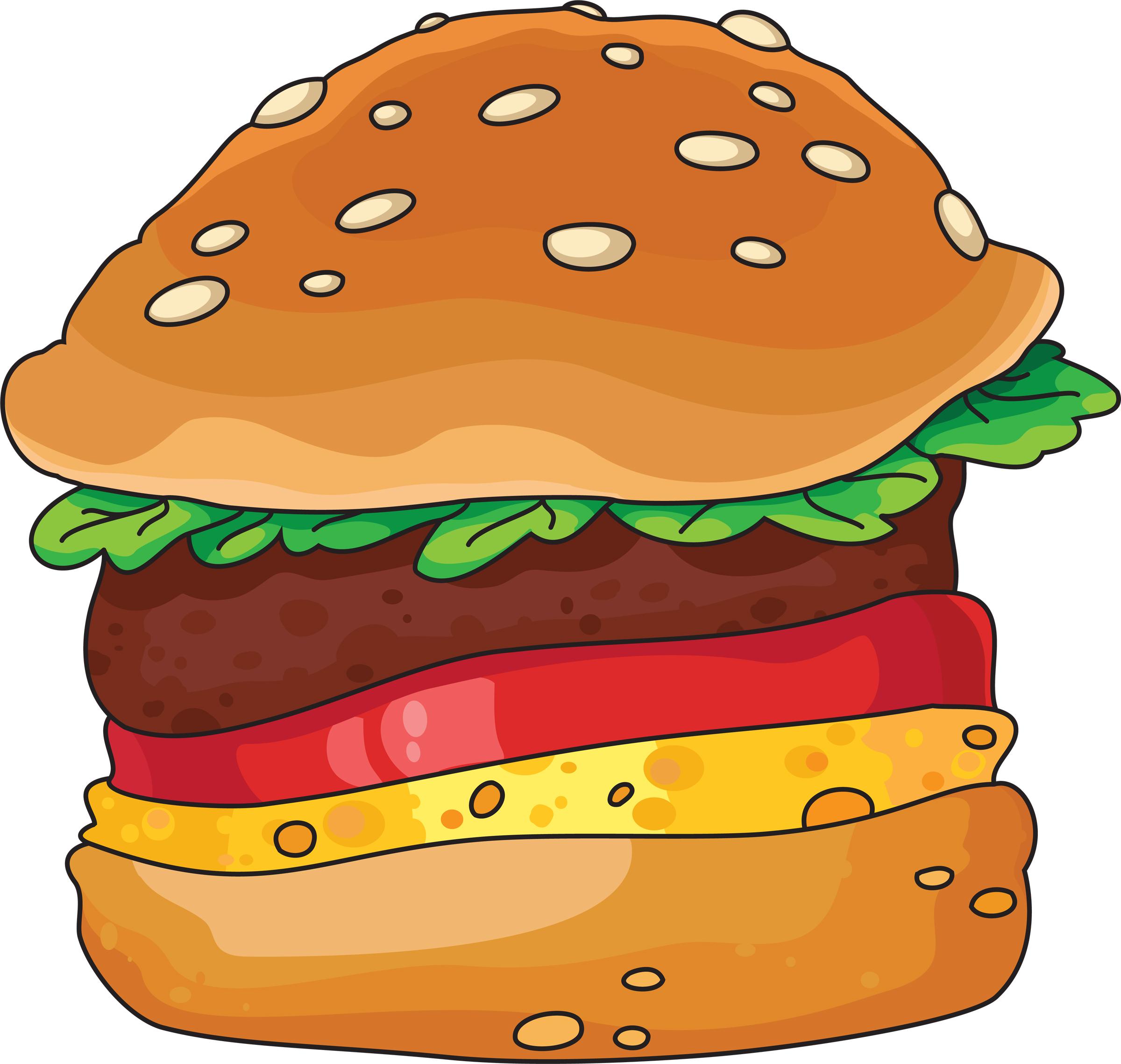 Hamburger cartoon clip art 3 image