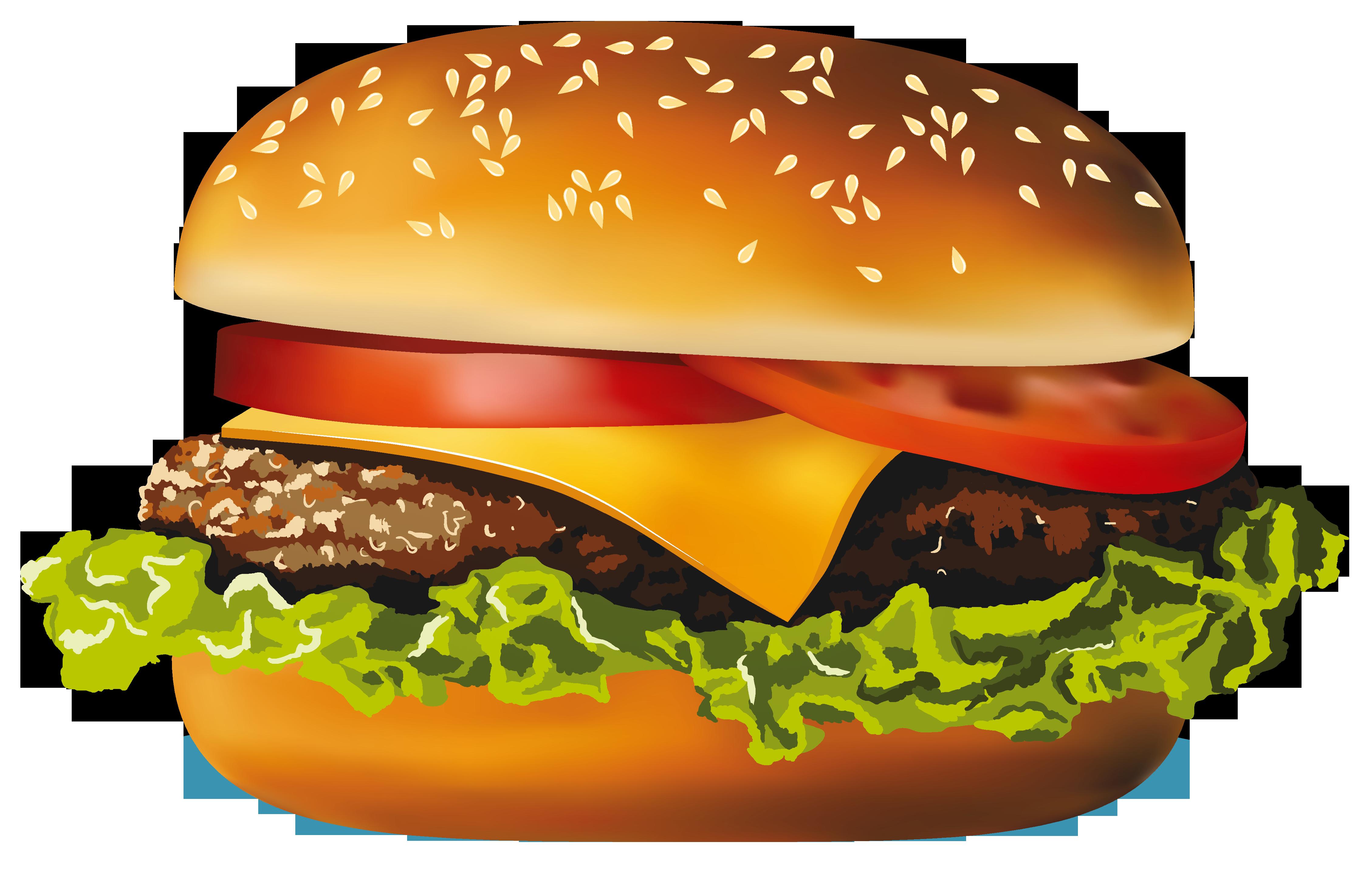 Hamburger PNG Vector Clipart
