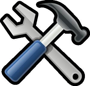 Hammer Spanner clip art .-Hammer Spanner clip art .-18