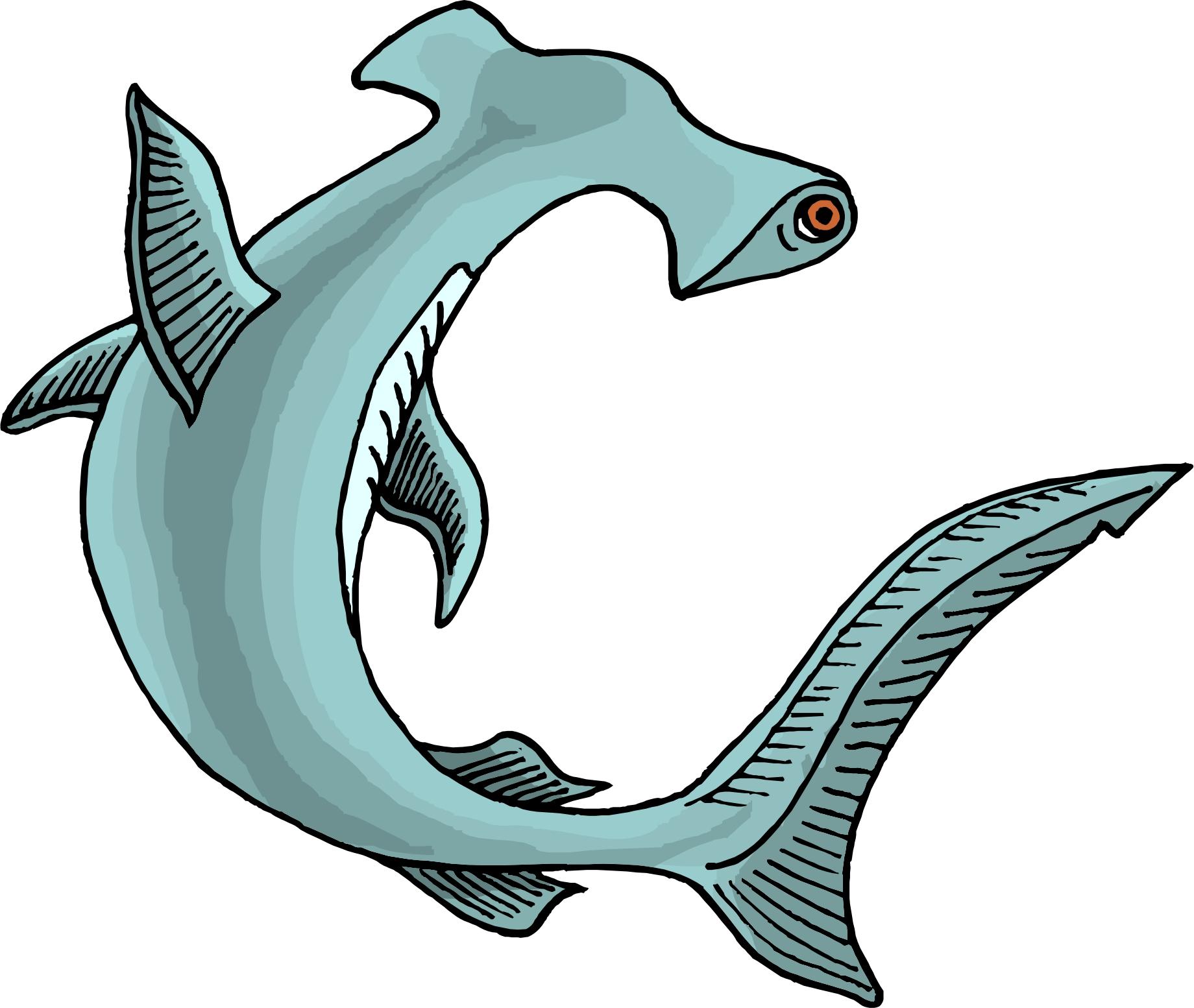 Hammerhead Shark Clipart Black And White-hammerhead shark clipart black and white-12