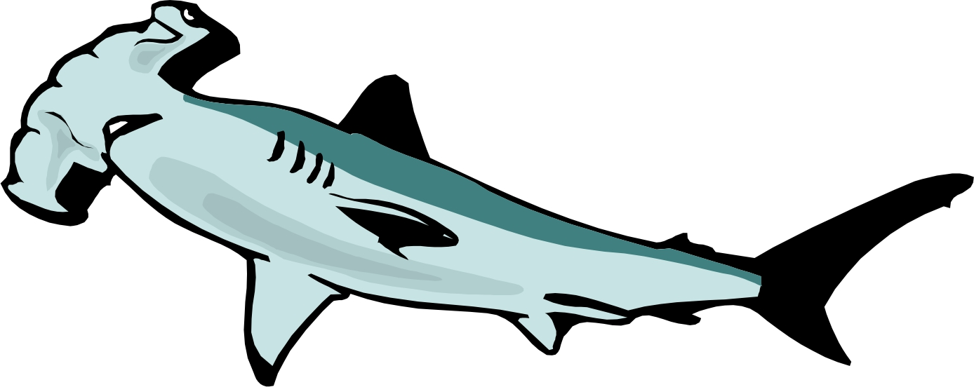 Hammerhead Shark Clipart .-Hammerhead Shark Clipart .-4