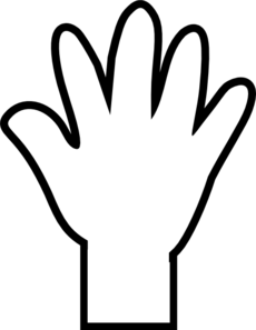 hand clipart black and white