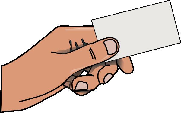 Hand 4 Clip Art At Clker Com  - Business Card Clip Art
