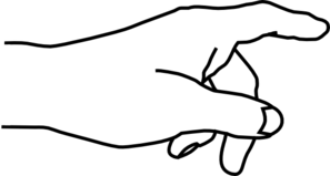 hand clipart black and% .