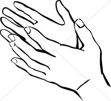 Hand Clipart Black And White . Praise Clipart, Praise Image, .