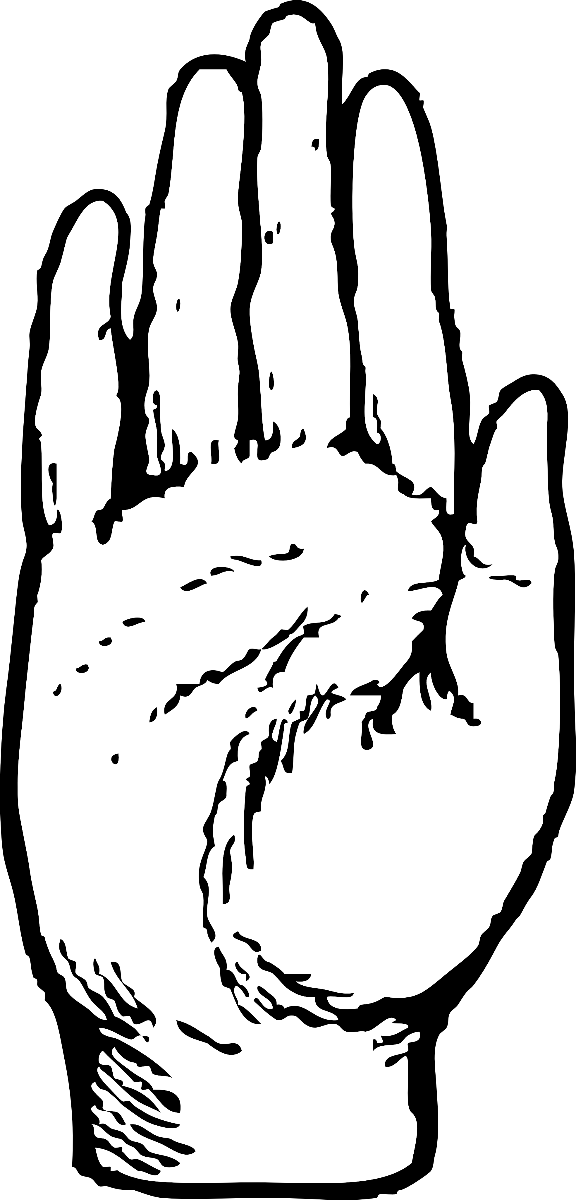 Hand Clipart Black And White Right Hand -Hand Clipart Black And White Right Hand Black White Line Art Coloring-11