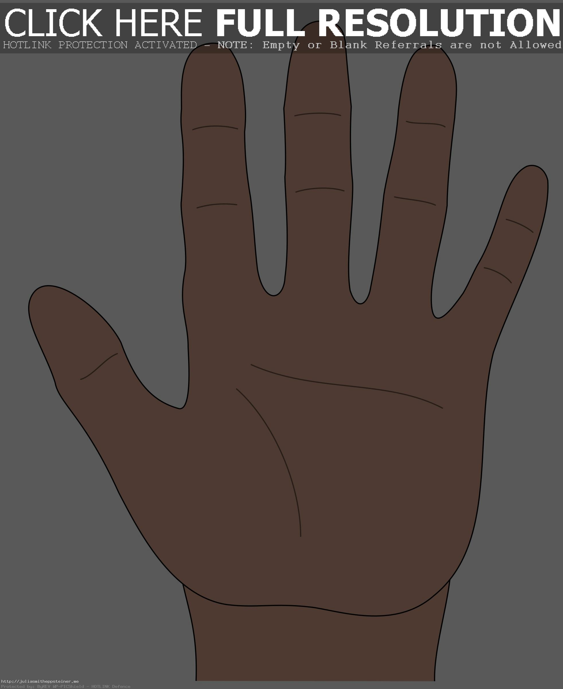 Clipart Hand Open With - Hand Clipart