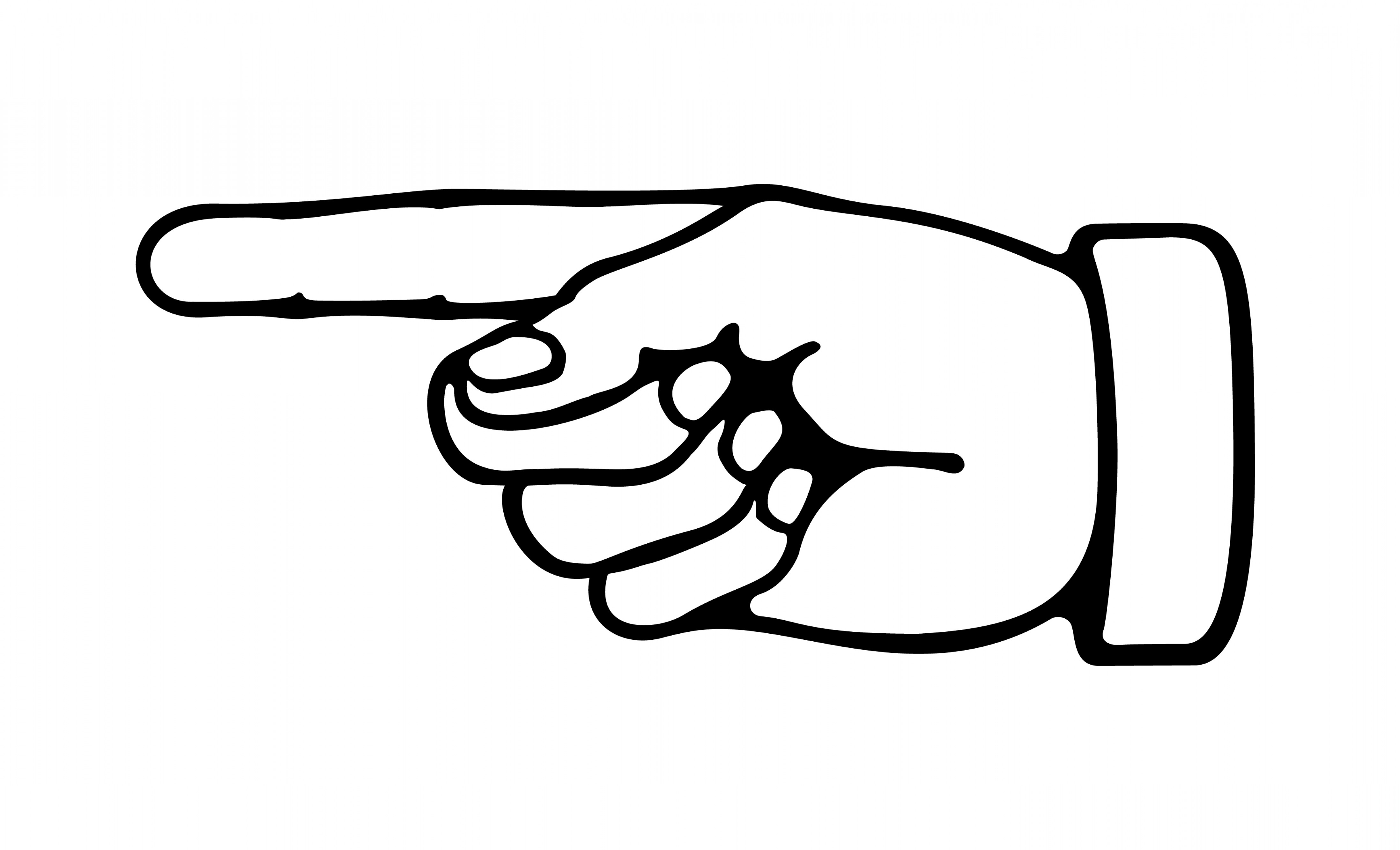 pointing hand clipart 8 - Hand Clipart
