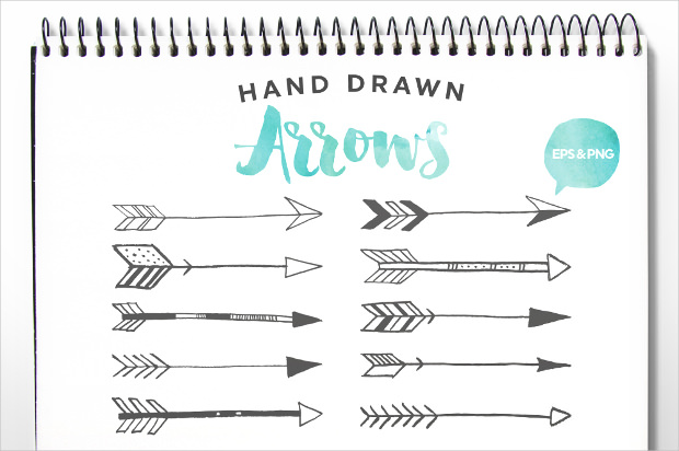 Hand Drawn Arrows Clip Art ..-Hand Drawn Arrows Clip Art ..-10