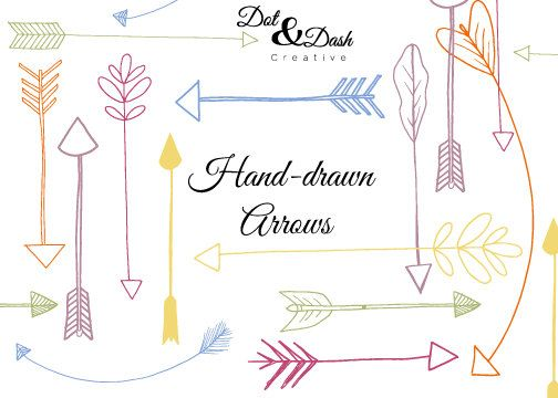 Hand Drawn Arrows .-Hand drawn Arrows .-8
