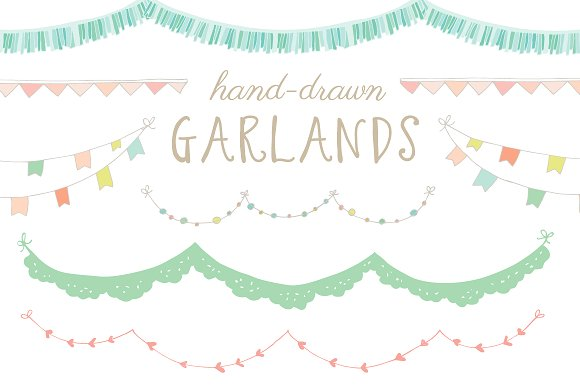 Hand-Drawn Garland Clip Art ...-Hand-Drawn Garland Clip Art ...-17