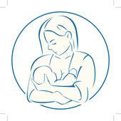 hand drawn woman hugging and feedin u0026middot; mother baby