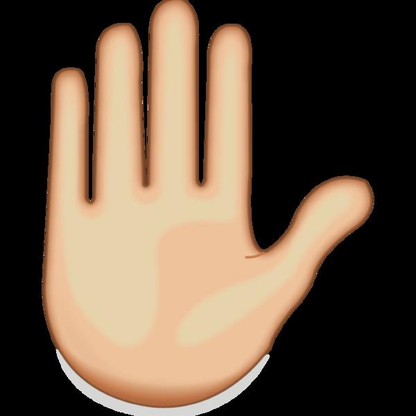 Hand Emoji Clipart-Clipartlook.com-600