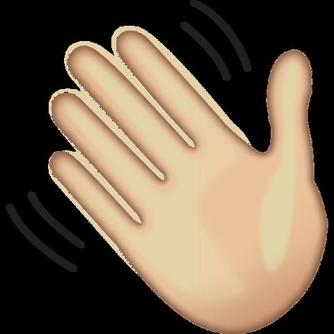 download waving hand sign emoji Icon