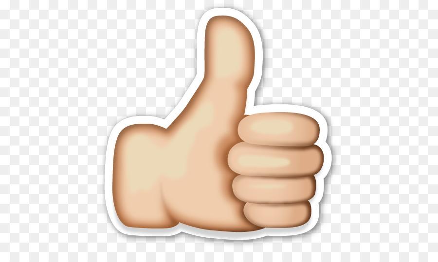 Emoji Thumb signal Sticker Icon - Hand Emoji PNG Clipart
