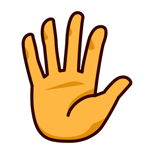 Raised Hand With Fingers Splayed Emoji-Raised Hand With Fingers Splayed Emoji-17