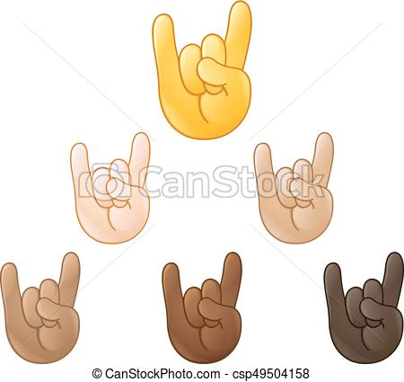 Sign of the horns hand emoji - csp49504158