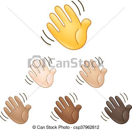 Waving Hand Sign Emoji - Csp37962812-Waving hand sign emoji - csp37962812-20