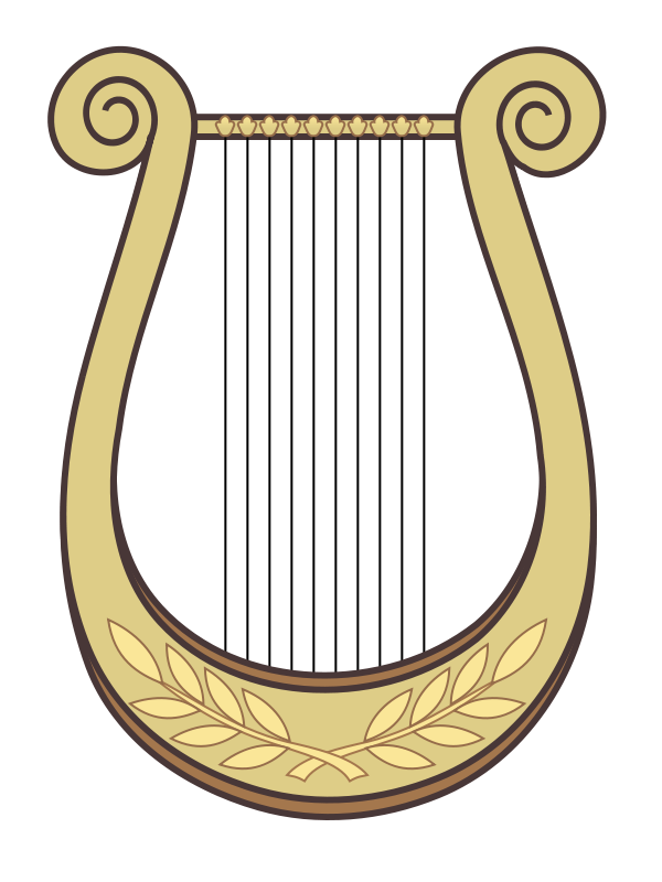 Hand Harp Clipart - Harp Clipart