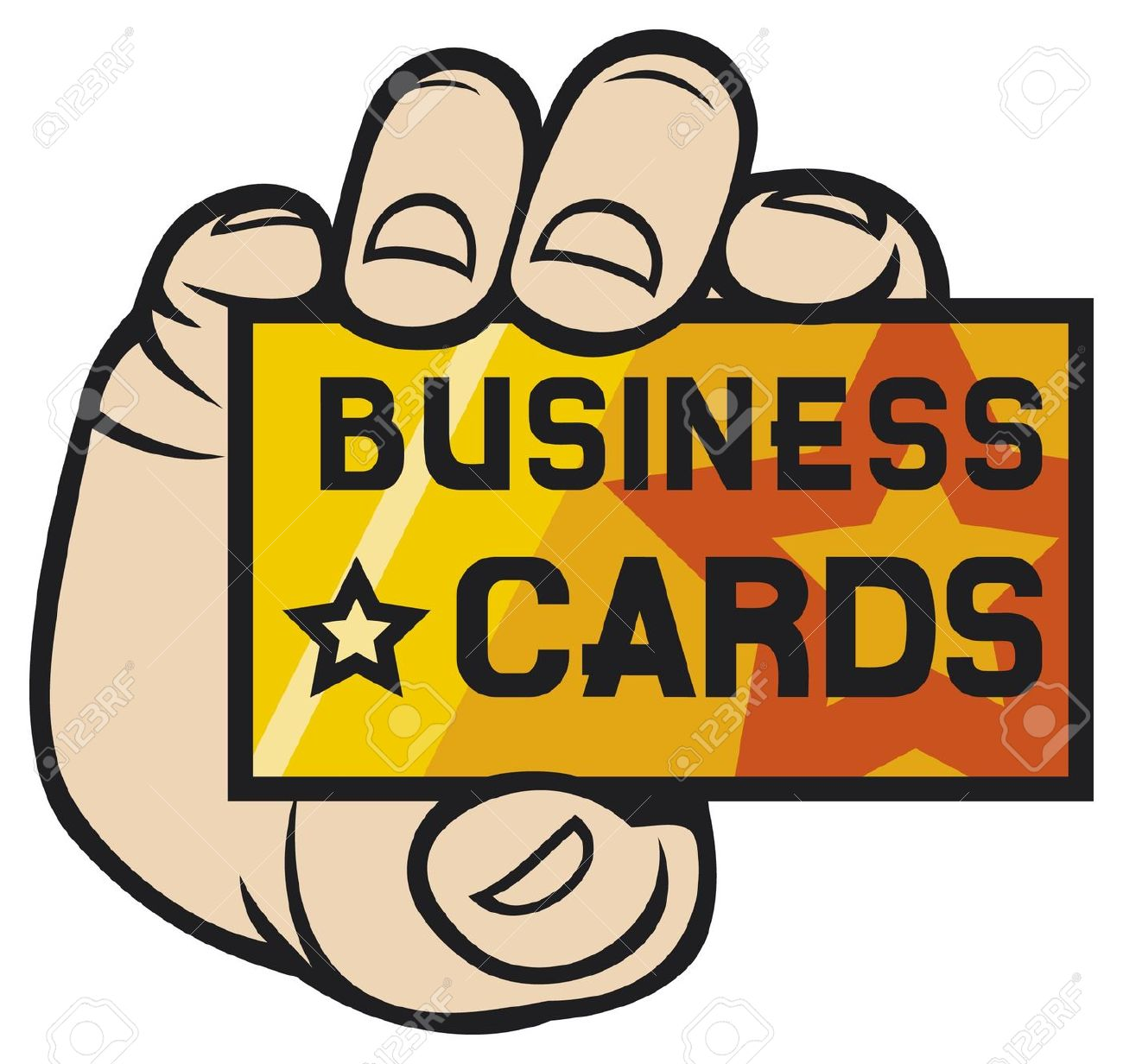Hand Holding Business Card .-hand holding business card .-11