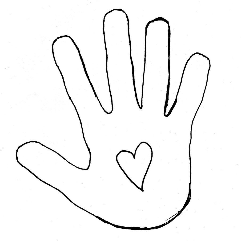 Hand outline drawing clipart. Hand outline 2