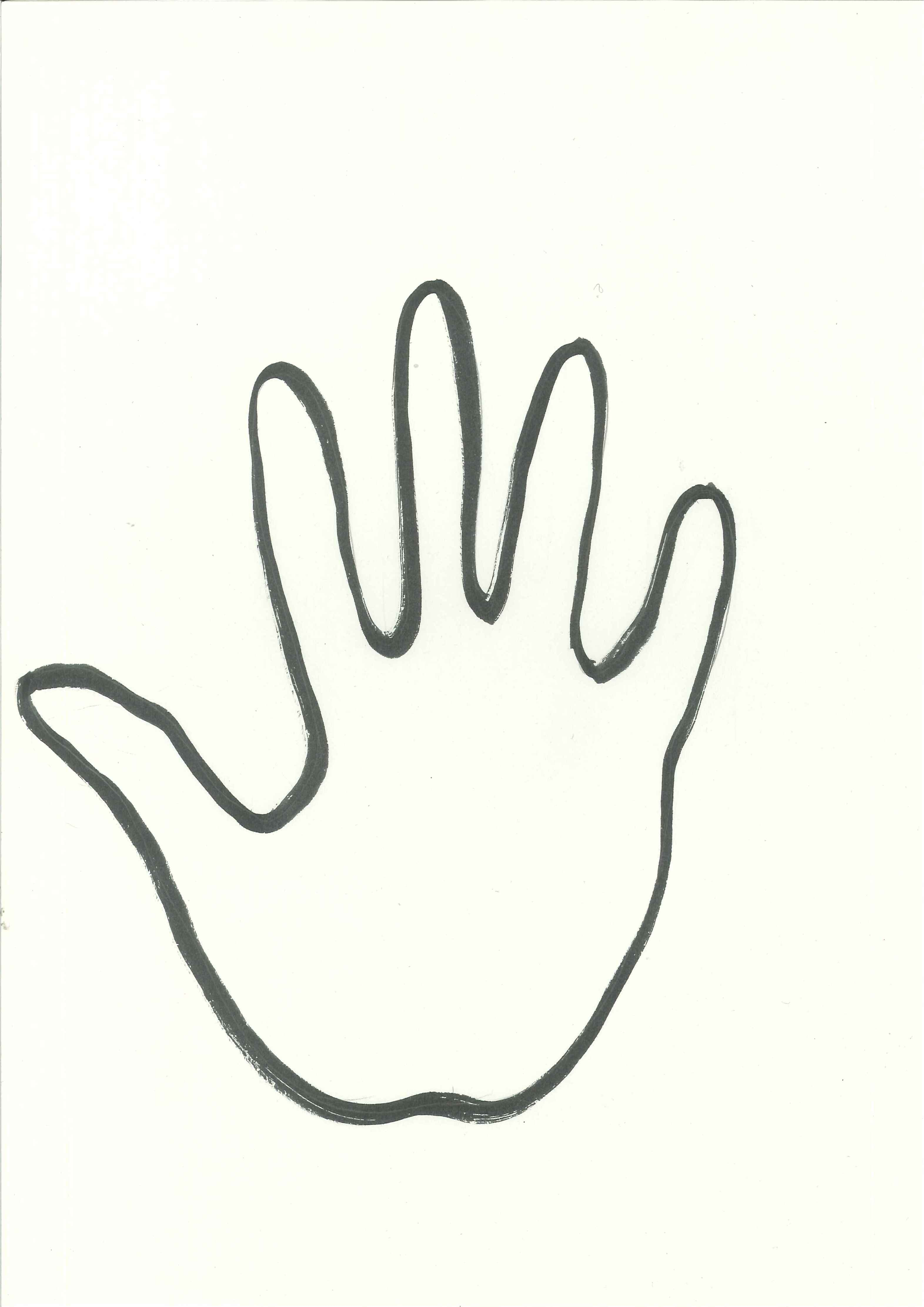 Hand outline left and right clipart free to use clip art resource