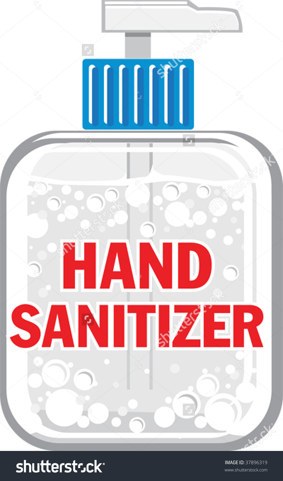 Hand Sanitizer Clipart Hand ... A Vector Illustration Of A ..