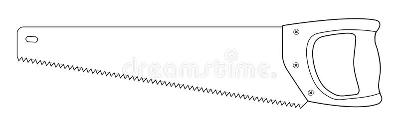 Download Hand Saw Woodworking Instrument Icon. Contour Stock Vector -  Illustration of construction, improvement