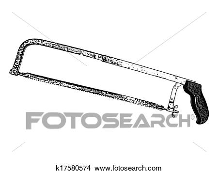 Drawing - Hand Saw. Fotosearch - Search Clip Art Illustrations, Wall  Posters, and