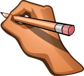 Hand Writing Clip Art