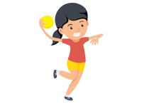 Girl With Handball Preparing To Throw Ba-Girl with handball preparing to throw ball clipart. Size: 44 Kb-2