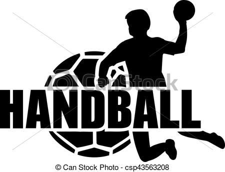 Handball Player Ball Set - cs - Handball Clipart