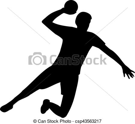 Handball Player - csp43563217 - Handball Clipart